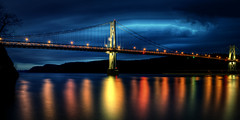 Mid Hudson Bridge / FDR Bridge, on March 29, 2013 (mudpig) Tags: longexposure bridge ny newyork night geotagged poughkeepsie hudsonriver hdr fdr mudpig midhudson stevekelley stevenkelley