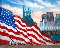 9/11 Memorial Mural, Bensonhurst, Brooklyn, New York City (jag9889) Tags: street city nyc bridge streetart ny newyork art brooklyn graffiti mural memorial flag 911 american brooklynbridge statueofliberty bensonhurst 2013 jag9889