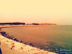 Khobar Cornishe (mochusile) Tags: ocean sea beach landscape saudi arabia waters khobar cornishe