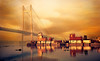 Its the time for Nor'wester (ratulm) Tags: bridge summer india port textures monsoon eastern kolkata ganges norwester splittone 2ndhooglybridge princepghat vidyasagarsetu