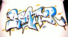 Scatter (Dysekt) Tags: art scatter graff bb blackbook throwdown xchange 2013 uploaded:by=flickrmobile flickriosapp:filter=peacock peacockfilter
