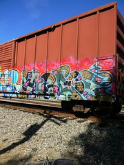 Horace (Sk8hamburger) Tags: railroad art train painting graffiti paint tag rr boxcar graff piece tagging freight horace tride paint spray ruinr
