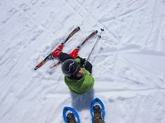 Approach (Lumase) Tags: winter snow ski sport kid sara skiing snowshoes wintersports
