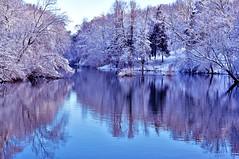 Snowy Reflections (Doug Wallick) Tags: park snow water minnesota reflections minneapolis april wirth theodore mygearandme mygearandmepremium mygearandmebronze mygearandmesilver mygearandmegold mygearandmeplatinum mygearandmediamond