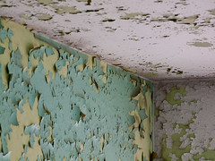 Corner (wuwei2012) Tags: white abstract green yellow corner paint sweden teal abstraction peelingpaint opticalillusion rebro arla 20130423872