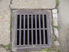 DSC03238 (bicyclehazard) Tags: storm broken grate iron drain cast brittle mcellisandsons