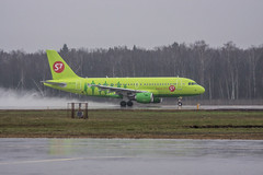 S7 A319 (n_dunaev) Tags: rain weather clouds plane airplane shower flying spring airport moscow aircraft flight landing airline airbus airlines takeoff spotting dme a320 s7 planespotting domodedovo