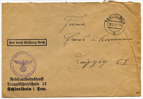 Reichsarbeitsdienst Truppenführerschule 13 Schivelbein Pommern Świdwin
