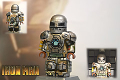 LEGO Iron Man : Mark I Suit (MGF Customs/Reviews) Tags: 2 6 3 man robert 1 iron lego mark 5 4 7 jr tony suit figure mandarin patriot custom stark 42 downey rdj extremis