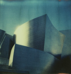Walt Disney Concert Hall #1, Los Angeles (H Polley) Tags: architecture polaroid sx70 losangeles cool gehry waltdisneyconcerthall impossible px70 theimpossibleproject