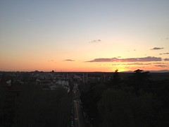 Sunset in Madrid (markjelinsky) Tags: madrid street sunset espaa sun sol set de calle spain community europa europe union spanish segovia comunidad reino espaol
