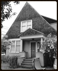 Peaked Roof #6 (Melinda Stuart) Tags: cottage berkeley 1900 shingle neoclassic columns dormer ca house