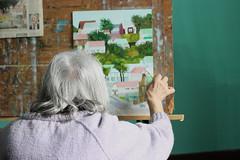 Painting (Bruno Sangiovanni) Tags: woman oldwoman old anciana pintura paint dibujo draw colourful color colour colours portrait retrato montevideo uruguay