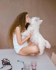 May & Shoogi (MY ANALOGUE DIARY) Tags: dog kiss film 35mm may shay segev analogue myanaloguediary