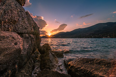 When the sun is going down (Vagelis Pikoulas) Tags: sun sunset sunburst view porto germeno greece tokina 1628mm sea seascape landscape canon 6d europe travel