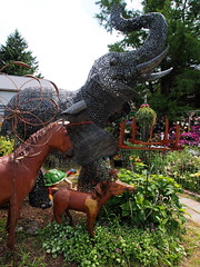 P6080781 (photos-by-sherm) Tags: good quilts retail garden flowers sculpture yard accessories amana iowa summer decorations metal