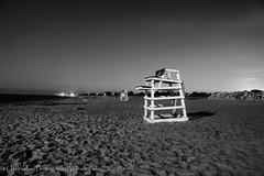East Beach 2016 - Still On Guard (uselessbay) Tags: 2016 agfascala200x beach charlestown dxofilmpack5 eastbeach landscape places rhodeisland uselessbayphotography blackandwhite digital lifeguardstation nightphotography uselessbay