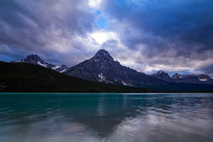 Day Dreaming (Stephanie Sinclair) Tags: canada rockymountains canadianrockies glaciallake mountains lake clouds banffnationalpark waterfowllake