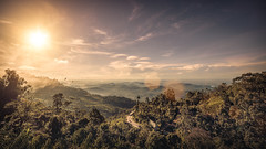 Sri Lanka Highlands II (M. Kafka) Tags: srilanka travel vacation landscape sky mountains green canon canoneos6d tamron 6d eos fullframe wideangle teaplantation field mountainside hill outdoor dawn sun morning samyang samyang14mmf28 14mm