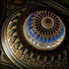 La voûte céleste. (*Jost49*) Tags: europe hongrie magyarország szeged synagogue dôme coupole voûte lumière light canoneos40d