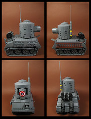 The Captain's Beast (Karf Oohlu) Tags: lego moc minifig tank afv captainamerica chibi chibitank chubbytank chubby