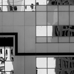 (msdonnalee) Tags: reflection windowreflection reflisse reflexion refleccione reflexo refleccion reflessi squareformat monotone blackandwhite