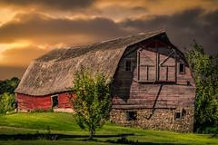 Struggles (henryhintermeister) Tags: barns minnesota oldbarns clouds farming countryliving country sunsets storms sunrises pastures nostalgia skies outdoors seasons pierz