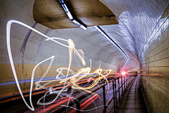 LIGHTNING  IN A TUNNEL (Cre8 Thru Action) Tags: urban street sonyalpha sony a6000 sanfrancisco longexposure tunnel california