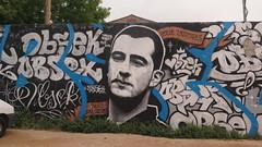 Tribute to Terence Robert (1979-2014) Street art in La Rochelle / Le Gabut (Sokleine) Tags: streetart mural graff painting artderue urbanart legabut larochelle charentemaritime 17 poitoucharente france tribute hommage terencerobert bodyboard accident obsek