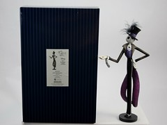 Couture de Force Jack Skellington Figurine by Enesco - Disneyland Purchase - Next to Box - Full Front View (drj1828) Tags: us disneyland dlr 2016 figurine nightmarebeforechristmas sally couturedeforce purchase enesco