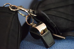 Bags and Whistle (Victoria T Hunt) Tags: nylon metal whistle rings clasp