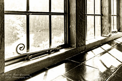 Art Deco Window At Coleton Fishacre NT (Peter Greenway) Tags: windowsill devon coletonfishacre window shadows ntproperty artdeco blackandwhite bw 1920s mono nt dartmouth england