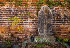 Grave Marker in Dappled Light (keithleblanc323) Tags: neworleans cemetery lafayettecemetery1neworleanslouisiana gravemarker dappledlight