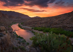 Rio Grande (Ryan_Buchanan) Tags: big bend park marina vega texas sunset buchanan exposurescape cactus rio grande mexico