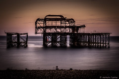 Extinction (www.nathaliecapitan.com) Tags: brighton westpier sea nightphotography night dark