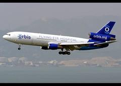 McDonnell Douglas | MD-10-30/F | Orbis Flying Eye Hospital | N330AU | Hong Kong | HKG | VHHH (Christian Junker | Photography) Tags: nikon nikkor d800 d800e dslr 70200mm teleconverter plane aircraft mcdonnelldouglas md1030f md1030 md10f md10 m10 m1y d10 d1y orbis flyingeyehospital orbisinternational orbisorg orbis1 n330au widebody heavy trijet classicplane specialcolours speciallivery specialscheme arrival landing 25r airline airport aviation planespotting 46800 96 4680096 hongkonginternationalairport cheklapkok vhhh hkg clk hkia hongkong sar china asia lantau terminal2 t2 skydeck christianjunker flickrtravelaward flickraward zensational hongkongphotos worldtrekker superflickers