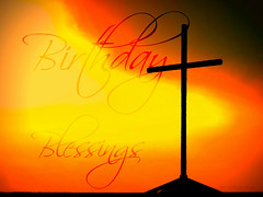 Birthday Blessings - Cross Ray of Light Orange