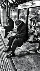 Weary traveller - part 2 (Ronan Collett) Tags: street man photography waiting stuttgart candid ubahn