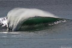 The Wave at Mavericks (mvonraesfeld) Tags: ocean point surf pacific surfer pillar wave surfing mavericks princetonbythesea img9907