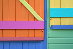 Day #1873 (cazphoto.co.uk) Tags: pink blue orange abstract colour green yellow wooden kent painted beachhut whitstable project365 canoneos7d 150213 canon24105mmeff4lisusm beyond1827
