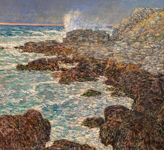 Childe Hassam - Seaweed and Surf, Appledore at Sunset, 1912 at de Young Museum of Fine Arts - San Francisco CA (mbell1975) Tags: sanfrancisco california ca sunset seaweed museum painting de san francisco surf gallery museu unitedstates fine arts young muse calif musee m american realist impressionism museo 1912 northern impression impressionist muzeum realism appledore finearts mze childe hassam museumuseum