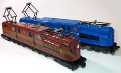40 Years Apart (Shuppiluliumas) Tags: lego trains gg1 prr conrail pennsy powerfunctions