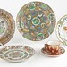 5002. Group of Antique Chinese Export Plates and Kutani