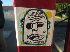 "Lucky"" Graffiti Sticker Up (Trading) (LuckyGraffiti) Tags: street streetart art one graffiti tag stickers tags pack trading luck lucky graff taggers tagging trade trades tagger slaps packs luckone luckoner"
