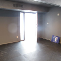 New blue door!  at Orchard Corners Apartments (Orchard Corners) Tags: room sweat remodel workout fitness update gym