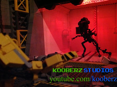 The Queen Cometh..... (Kooberz) Tags: brick classic nerd movie lego alien ripley aliens scifi videogame epic facehugger x