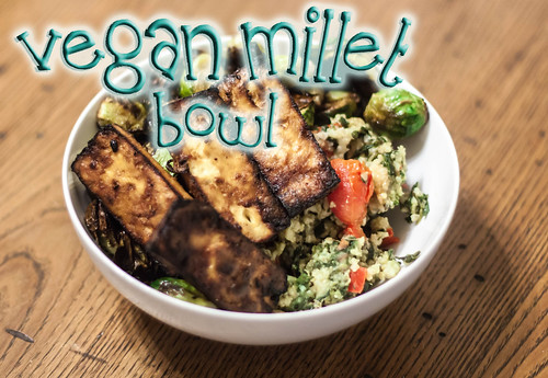 vegan millet bowl