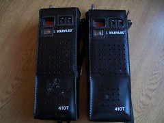 Harvard 410T CB in leather cases (Wild Terrain) Tags: radio vintage handheld cb transmitters