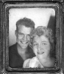 my parents when they were first dating in the late 1950s (haunted snowfort) Tags: family love smile vintage mom couple dad antique jacob father mother barbara dating oldphoto  crsytalbeach