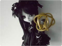 A touch of magic~ Pullip Homura Akemi. ( Nukeh) Tags: bw dal lolita cancan pullip luts gothiclolita coolcat taxidermist cuteeyes isul animaleyes differenteyes whiteskin bicoloreyes taeyang leekeworld byul mimiwoo obitsu27cmsbhm puellamadokamagica yeolume nukeh pulliphomuraakemi obitsuonpullip pullipnellastockclothes lutswignaturalblack